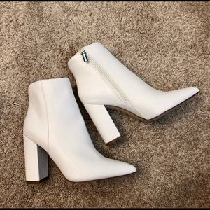 White booties from JustFab